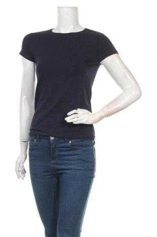 Дамска тениска Massimo Dutti, Размер S, Цвят Син, 92% памук, 8% еластан, Цена 29,50лв.