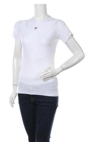 Дамска тениска, Размер M, Цвят Бял, 91% полиестер, 9% еластан, Цена 6,04лв.