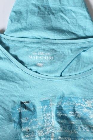 Дамска тениска Napapijri, Размер S, Цвят Син, Памук, Цена 32,45лв.
