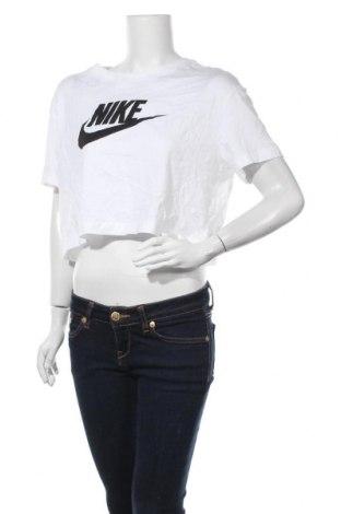 Дамска тениска Nike, Размер M, Цвят Бял, Памук, Цена 51,75лв.
