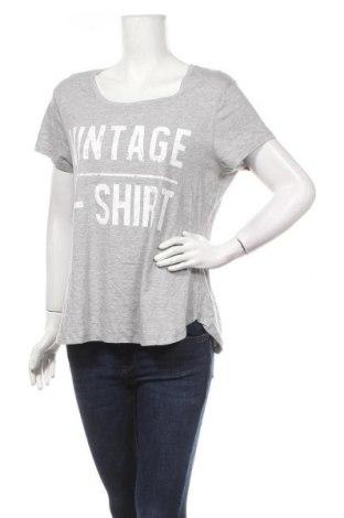 Дамска тениска Now, Размер XL, Цвят Сив, Памук, еластан, Цена 7,14лв.
