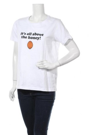 Γυναικείο t-shirt Numph, Μέγεθος XL, Χρώμα Λευκό, Βαμβάκι, Τιμή 19,56€