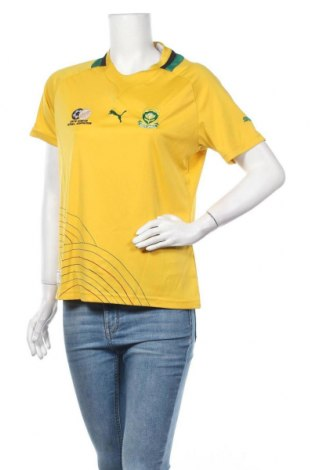 Дамска тениска PUMA, Размер L, Цвят Жълт, Полиестер, Цена 5,78лв.