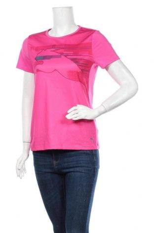 Дамска тениска PUMA, Размер M, Цвят Розов, 90% полиестер, 10% еластан, Цена 23,10лв.