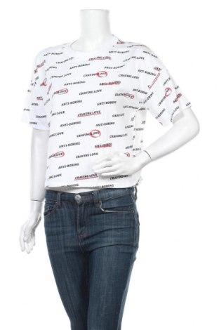 Дамска тениска Pull&Bear, Размер S, Цвят Бял, Памук, Цена 15,40лв.
