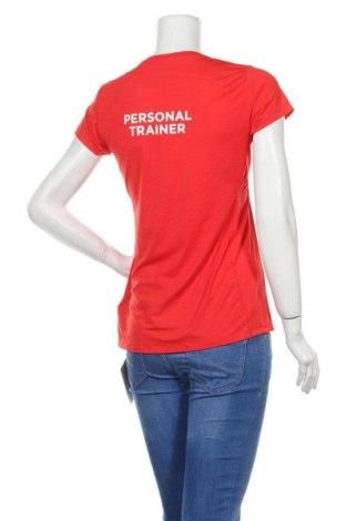 Дамска тениска Reebok, Размер M, Цвят Червен, 84% полиамид, 16% еластан, Цена 14,82лв.