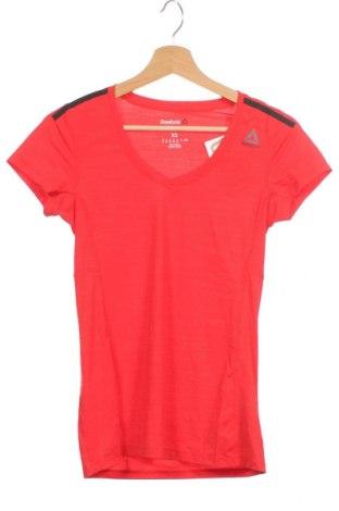 Дамска тениска Reebok, Размер XS, Цвят Червен, 84% полиамид, 16% еластан, Цена 19,60лв.