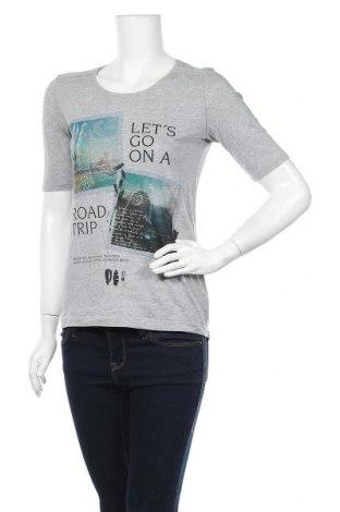 Дамска тениска S.Oliver, Размер XS, Цвят Сив, 50% памук, 50% модал, Цена 15,12лв.