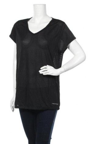 Дамска тениска Slazenger, Размер XL, Цвят Черен, Полиестер, Цена 11,60лв.