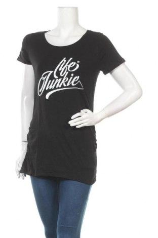 Дамска тениска Spread Shirt, Размер M, Цвят Черен, 95% памук, 5% еластан, Цена 7,14лв.