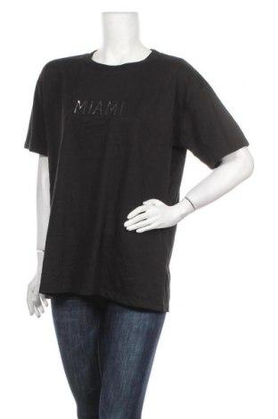 Γυναικείο t-shirt Supre, Μέγεθος XL, Χρώμα Μαύρο, 65% πολυεστέρας, 35% βαμβάκι, Τιμή 7,31€