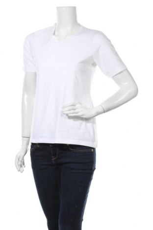 Γυναικείο t-shirt TCM, Μέγεθος M, Χρώμα Λευκό, 95% βαμβάκι, 5% ελαστάνη, Τιμή 9,38€