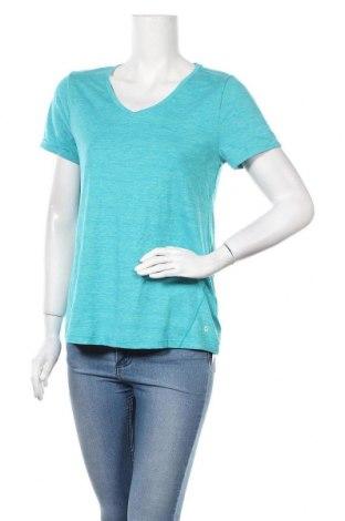 Дамска тениска Tchibo, Размер S, Цвят Син, 88% полиестер, 12% еластан, Цена 4,46лв.