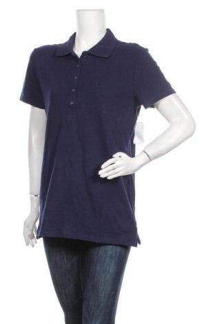 Γυναικείο t-shirt Time and tru, Μέγεθος L, Χρώμα Μπλέ, 96% βαμβάκι, 4% ελαστάνη, Τιμή 6,14€