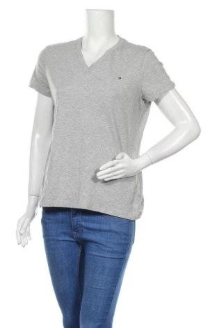 Дамска тениска Tommy Hilfiger, Размер XL, Цвят Сив, Памук, Цена 31,82лв.