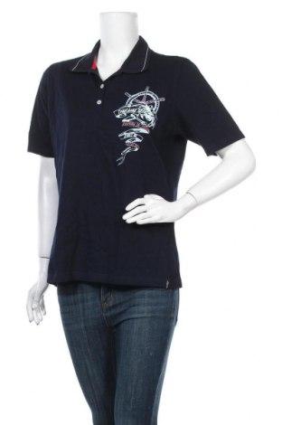 Дамска тениска Trigema, Размер L, Цвят Син, Памук, Цена 10,24лв.