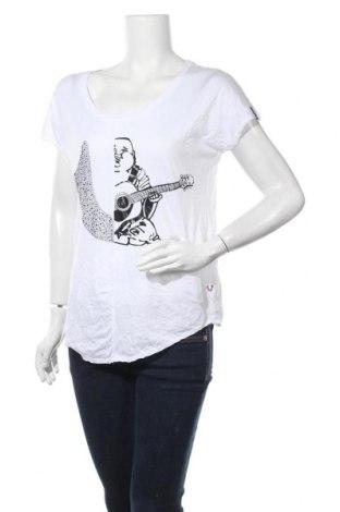 Дамска тениска True Religion, Размер XS, Цвят Бял, 50% памук, 50% модал, Цена 59,25лв.