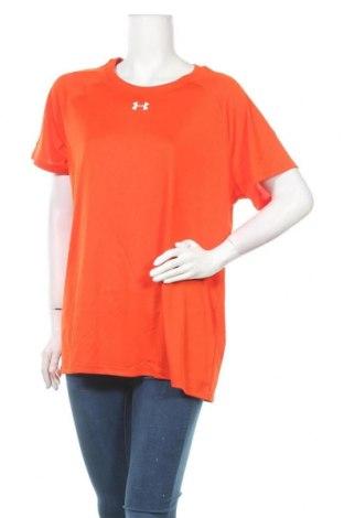 Дамска тениска Under Armour, Размер XXL, Цвят Оранжев, Полиестер, Цена 51,75лв.