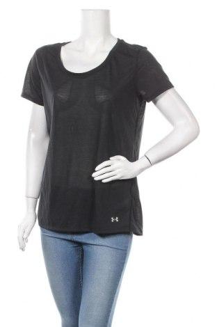 Дамска тениска Under Armour, Размер L, Цвят Черен, 78% полиестер, 22% еластан, Цена 29,40лв.