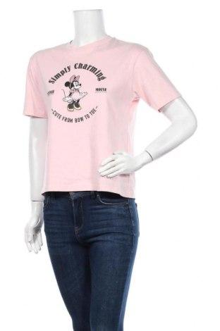 Дамска тениска Uniqlo, Размер S, Цвят Розов, Памук, Цена 16,80лв.