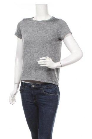 Дамска тениска Uniqlo, Размер XS, Цвят Сив, Полиестер, Цена 13,23лв.