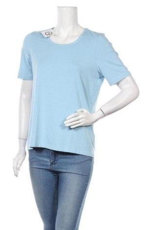 Дамска тениска Walbusch, Размер L, Цвят Син, 95% вискоза, 5% еластан, Цена 7,56лв.