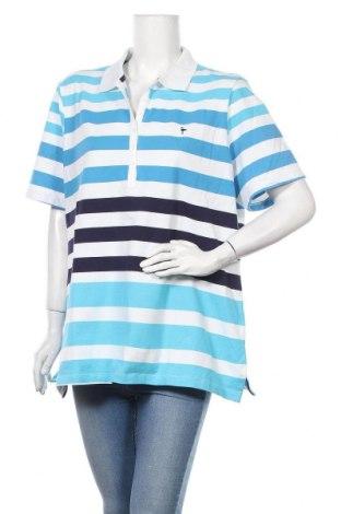 Дамска тениска Woman By Tchibo, Размер XXL, Цвят Син, 95% памук, 5% еластан, Цена 16,96лв.
