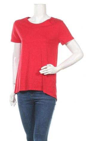 Дамска тениска Zara, Размер S, Цвят Червен, Памук, Цена 17,33лв.