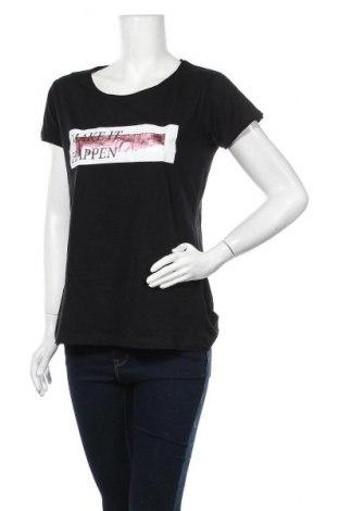 Дамска тениска Zebra, Размер L, Цвят Черен, Памук, Цена 18,90лв.