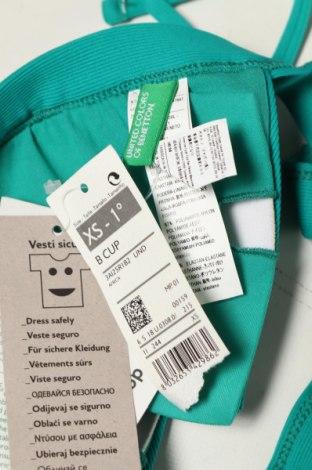 Дамски бански United Colors Of Benetton, Размер XS, Цвят Зелен, 93% полиамид, 7% еластан, Цена 17,15лв.