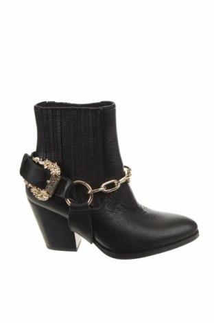 Дамски боти Versace Jeans, Размер 38, Цвят Черен, Естествена кожа, Цена 479,25лв.