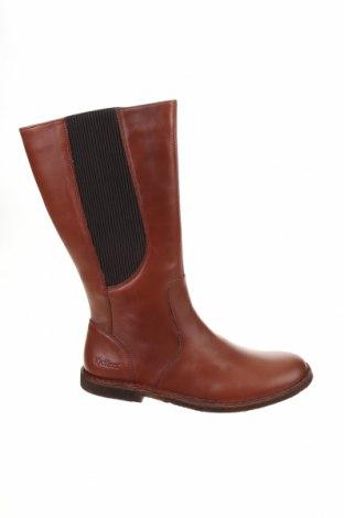 Дамски ботуши Kickers, Размер 39, Цвят Кафяв, Естествена кожа, Цена 89,55лв.
