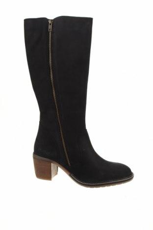 Дамски ботуши Kickers, Размер 40, Цвят Черен, Естествена кожа, Цена 94,05лв.