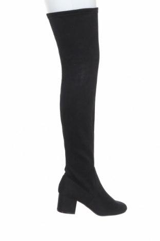Дамски ботуши Steve Madden, Размер 40, Цвят Черен, Текстил, Цена 113,40лв.