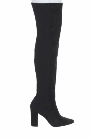 Дамски ботуши Steve Madden, Размер 40, Цвят Черен, Текстил, Цена 162,52лв.