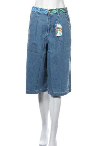 Дамски дънки Desigual, Размер S, Цвят Син, 72% памук, 17% полиестер, 10% вискоза, 1% еластан, Цена 36,12лв.