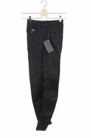 Дамски дънки G-Star Raw, Размер XS, Цвят Черен, 65% памук, 29% полиестер, 6% еластан, Цена 32,85лв.