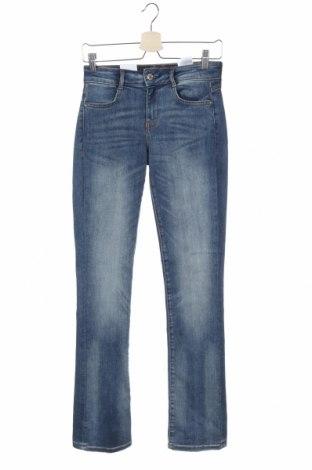 Дамски дънки Guess, Размер XS, Цвят Син, 81% памук, 11% лиосел, 8% еластан, Цена 134,25лв.