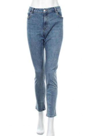 Dámské džíny  H&M, Velikost XL, Barva Modrá, 66% bavlna, 30% polyester, 3% viskóza, 1% elastan, Cena  258,00Kč