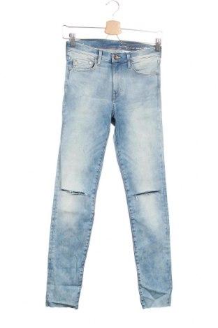 Дамски дънки H&M, Размер XS, Цвят Син, 85% памук, 11% полиестер, 4% еластан, Цена 17,55лв.