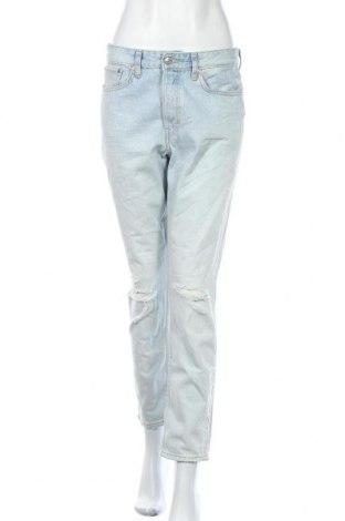 Дамски дънки H&M, Размер M, Цвят Син, Памук, Цена 23,21лв.