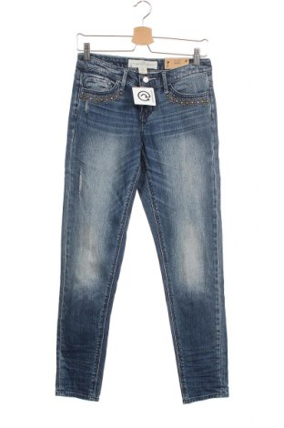 Дамски дънки H&M L.O.G.G., Размер S, Цвят Син, 99% памук, 1% еластан, Цена 39,44лв.