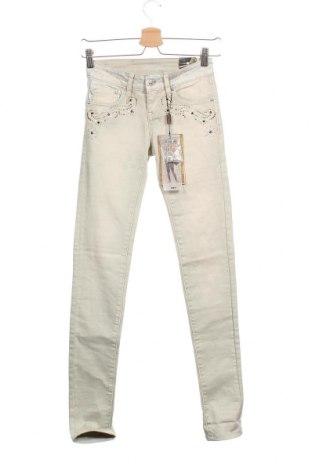 Дамски дънки Koroshi, Размер XS, Цвят Бежов, 98% памук, 2% еластан, Цена 21,83лв.