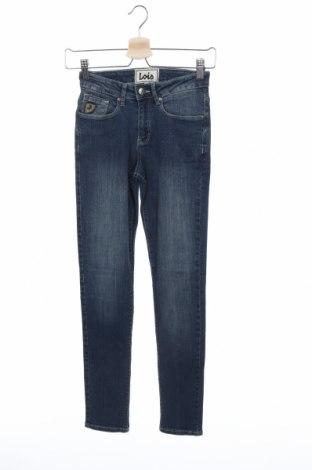 Дамски дънки Lois, Размер XS, Цвят Син, 98% памук, 2% еластан, Цена 23,46лв.