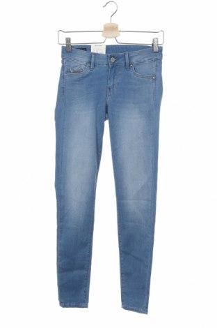 Дамски дънки Pepe Jeans, Размер XS, Цвят Син, 75% памук, 23% други тъкани, 2% еластан, Цена 53,40лв.