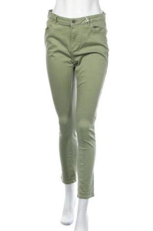 Дамски дънки Promod, Размер L, Цвят Зелен, 74% памук, 17% лиосел, 6% други тъкани, 3% еластан, Цена 46,20лв.