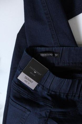 Дамски дънки Rock&Rags, Размер M, Цвят Син, 65% памук, 32% полиестер, 3% еластан, Цена 27,65лв.