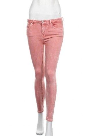 Дамски дънки Zara, Размер S, Цвят Розов, Цена 28,56лв.