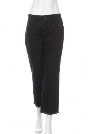 Дамски дънки Zara, Размер L, Цвят Черен, Памук, Цена 24,70лв.