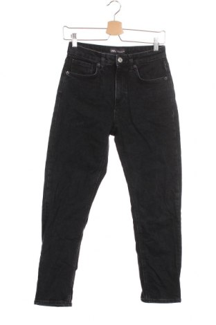 Дамски дънки Zara, Размер XS, Цвят Черен, 99% памук, 1% еластан, Цена 23,25лв.